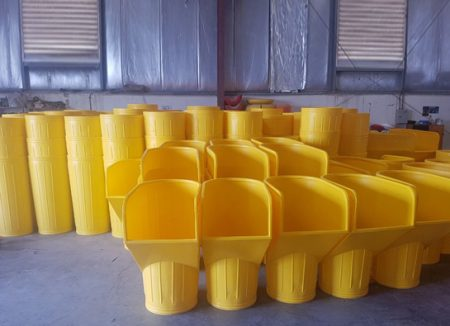 Union Global has completed the delivery of Ozplast plastic debris chutes for use within the UAE. Ozplast plastic debris chutes