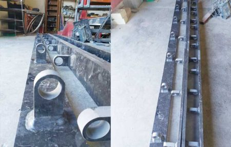 Custom Fabrication of HDPE Pipe Support